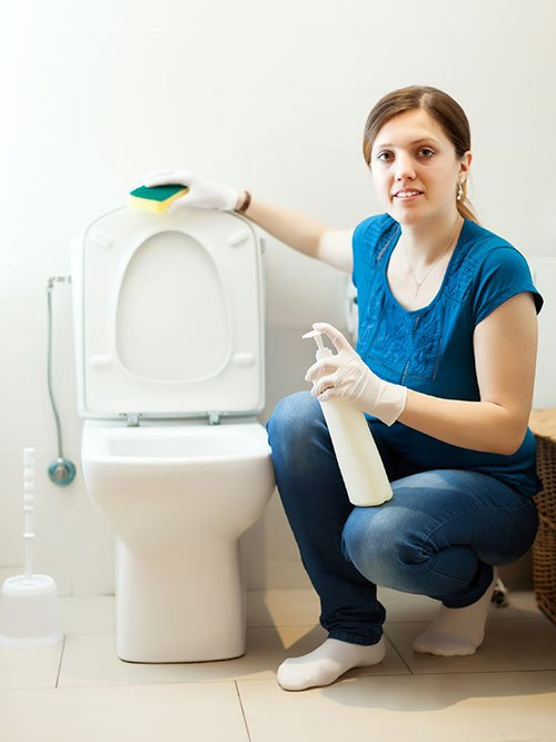 Heated toilet seats are easy to keep clean